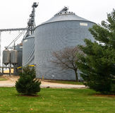 Grain storage bin Stock Photo
