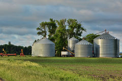 Grain Storage Bins Stock Image