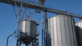 Grain Storage Bins Stock Photography