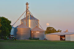 Grain Storage Bins 3 royalty free stock photography
