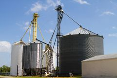 Grain Storage Elevators Stock Photos
