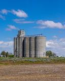 Grain storage facility with silos Stock Images
