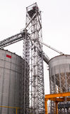 Grain storage silo Stock Photos