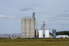 Grain storage silos and elevators Stock Photos