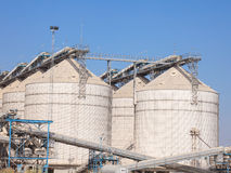 Grain Storage Silos Tank For Agriculture Royalty Free Stock Photos
