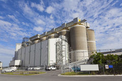 Grain storage tanks. Close - up of grain storage tanks Stock Images