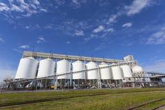 Grain storage tanks Stock Photography