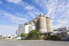 Grain storage tanks Stock Image