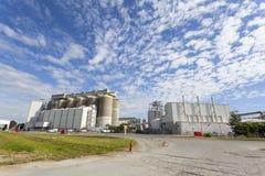 Grain storage tanks Stock Photos