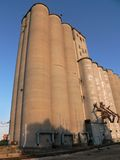 Grain storage in west Texas. Grain elevators and storage bins in the panhandle of Texas Stock Photos