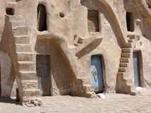 Grain stores in Tunisia. With stairs Royalty Free Stock Image