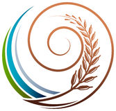 Grain swirl. Isolated illustrated logo design stock illustration