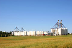 Grain Tanks Stock Photos