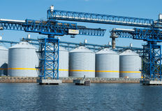 Grain terminal Stock Photos