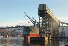 Grain Terminal, Burrard Inlet, Vancouver Stock Image