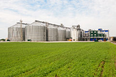Grain warehouse Royalty Free Stock Images