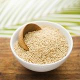 Grain in a White Ceramic Bowl Stock Image