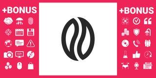 Graine de café - logo Images stock