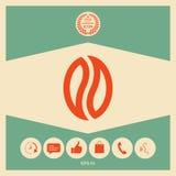 Graine de café - logo Photo stock