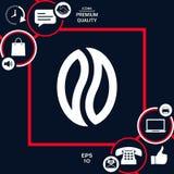 Graine de café - logo Photographie stock libre de droits