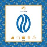 Graine de café - logo Photographie stock