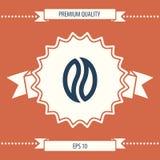 Graine de café - logo Image stock
