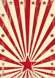 Grained красная предпосылка звезды Стоковое Фото