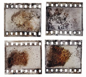Grained film strip texture Royalty Free Stock Photos