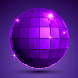 Grained plastic purple flash globe, geometric Stock Image
