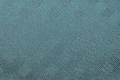 Grained texture checkered fabric of dark turquoise color or indigo Royalty Free Stock Images
