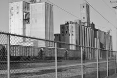 Grainery outpost. In Aurora, Missouri Royalty Free Stock Image