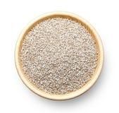 Graines blanches de quinoa Photos stock