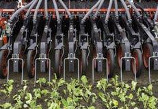Graines d'encemencement de tracteur Photographie stock libre de droits
