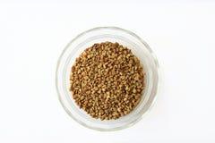 Graines d'herbe de fenugrec dans une cuvette Photographie stock libre de droits