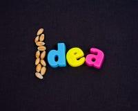 Graines d'une idée. image libre de droits