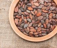 Graines de cacao photos libres de droits