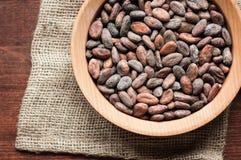 Graines de cacao Photo stock