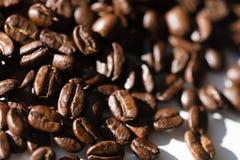 Graines de café noires Images libres de droits