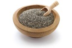 Graines de Chia avec le scoop Image stock