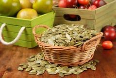 Graines de citrouille Image libre de droits