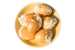 Graines de durian d'isolement sur le fond blanc Image stock
