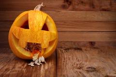 Graines de Halloween de potiron Photo libre de droits