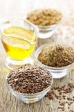 Graines de lin et huile de lin Image libre de droits