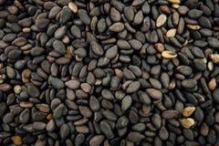 Graines de sésame noires Photos libres de droits