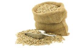 Graines de tournesol sèches dans un sac de toile de jute Photo stock