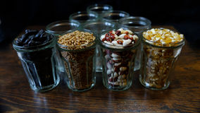 Graines en verres transparents 3 Image stock