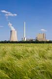Grainfield y central eléctrica Fotografía de archivo
