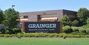 Grainger Greenville SC Distribution center. A street view of the very large W.W. Grainger Distribution Center near Greenville SC is pictured royalty free stock photography