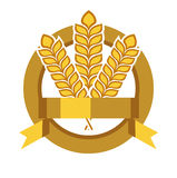 Grains in badge vector flat design Royalty Free Stock Photos