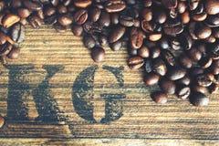 Grains beans coffe stock photo